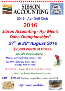 Ayr Golf Club - Open Flyer (2016)