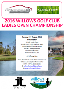 Willows - Ladies Open (FLYER) 2016